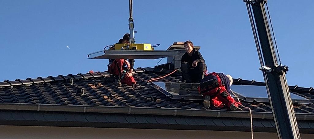 Auflegung der Solarplatten